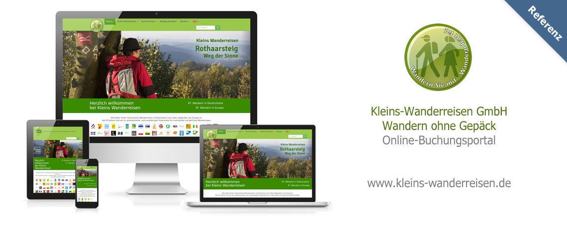Webseitenerstellung Dillenburg run-web.de für kleins-wanderreisen.de